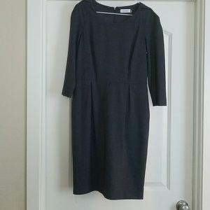 Calvin Klein charcoal gray Dress